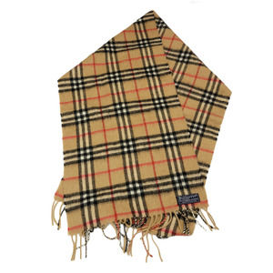 Vtg Burberrys Of London Check Cashmere Wool Scarf